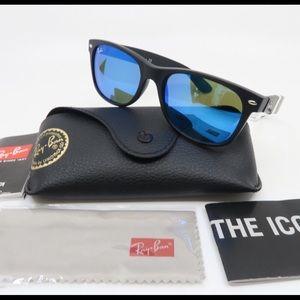 RayBan 2132 New Wayfarer Blue Mirror Sunglasses